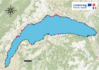 Cartographie des rives du Léman