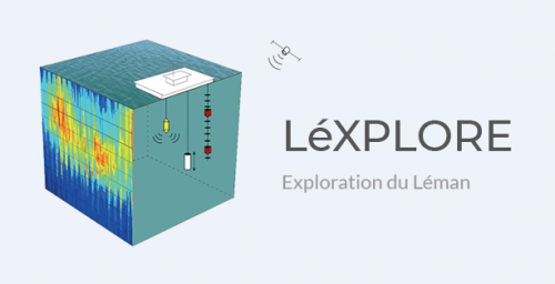 The experimental platform LéXPLORE (Exploration of Lake Geneva) named !