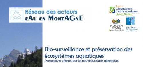 Réseau des acteurs de l'eau en montagne : Actes de la journée technique en ligne !