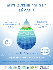 Le premier AQUATHON co-organisé par l'UMR CARRTEL : Invitation