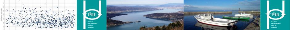 les bateaux, le port de la station INRA, le logo ppbd, le lac d'Annecy, 50 ans de  mesure de la 'transparence par disque INRA' sur le Léman en base de données.